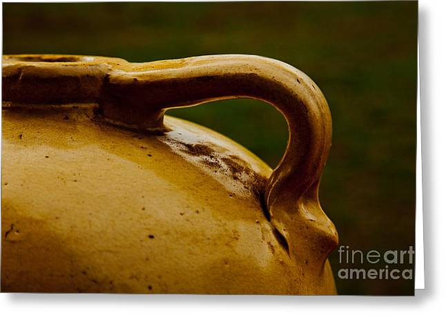 Water Jug Greeting Cards - Water Booze or Beer Ceramic Clay Jug in Color 3273.02 Greeting Card by M K  Miller