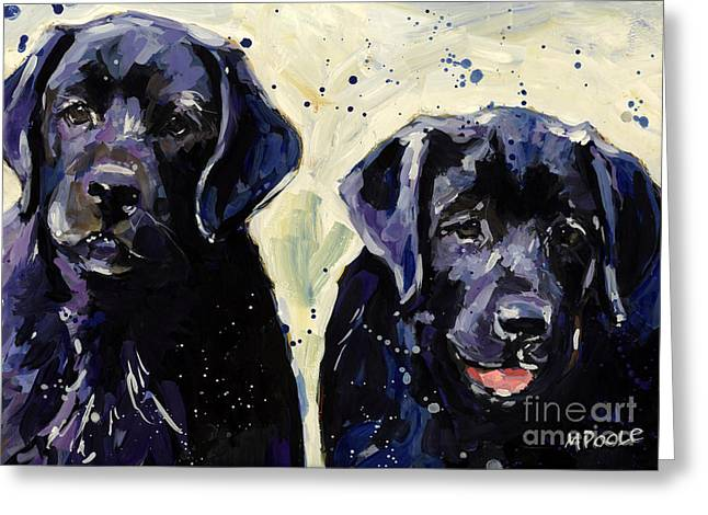 Companion Animal Greeting Cards - Water Boys Greeting Card by Molly Poole