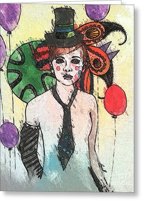 Water Clown Greeting Card by Amy Sorrell