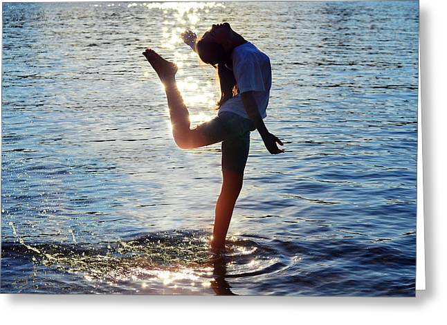 Dancer Photographs Greeting Cards - Water Dancer Greeting Card by Laura  Fasulo