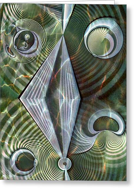 Distortion Greeting Cards - Water Distortion Greeting Card by Ron Bissett