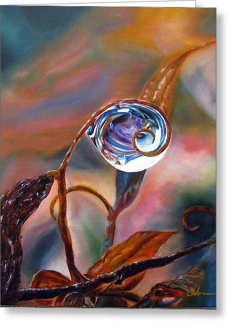 Lavonne Hand Greeting Cards - Water Drop Reflections Greeting Card by LaVonne Hand