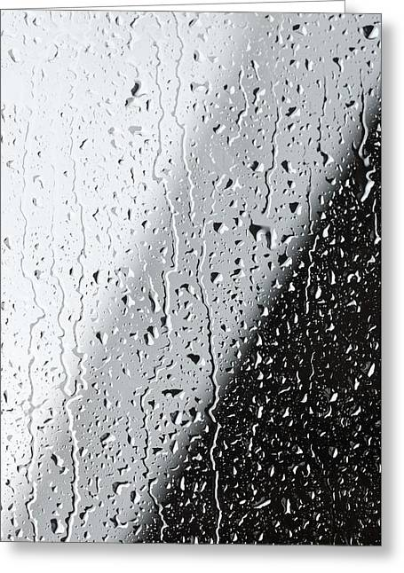 Wet Window Greeting Cards - Water Drops On A Window Greeting Card by Ben Welsh