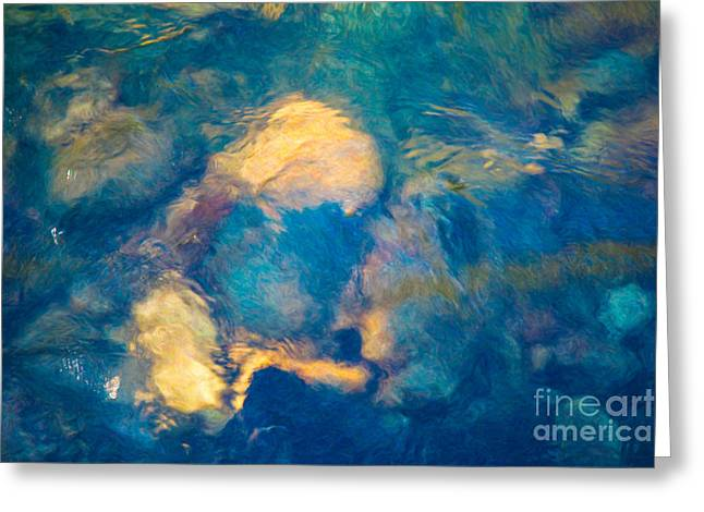 Methow Valley Digital Greeting Cards - Water Enigma Abstract River Artwork by Omaste witkowski owFotoGr Greeting Card by Omaste Witkowski