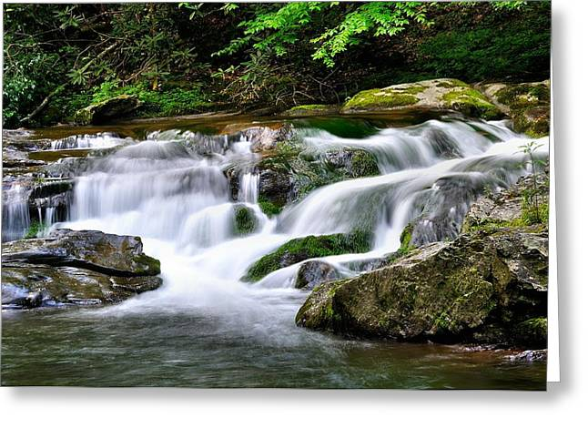 Fishing Creek Greeting Cards - Water Fall 2 Greeting Card by Todd Hostetter