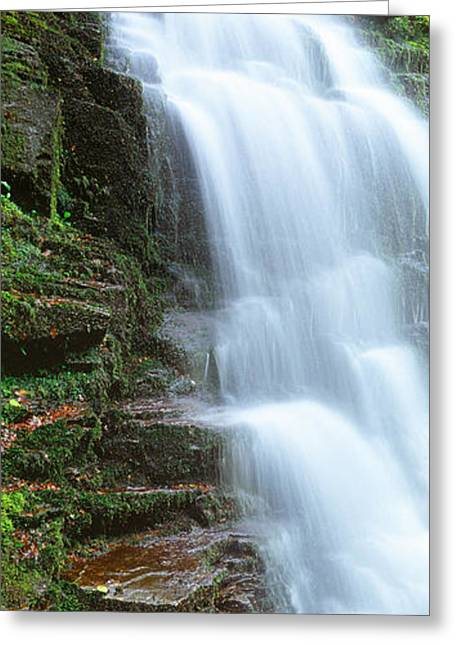 Moss Greeting Cards - Water Falling From Rocks, Aberfeldy Greeting Card by Panoramic Images