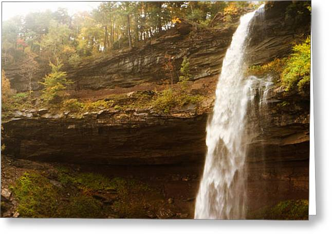 Autumn Colors Greeting Cards - Water Falling From Rocks, Kaaterskill Greeting Card by Panoramic Images