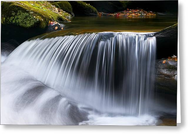 Water Falling Great Smoky Mountains Greeting Card by Rich Franco