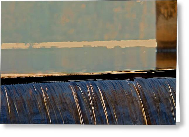 Fineartamerica Greeting Cards - Water Falls Edge 2 Greeting Card by Michael Saunders