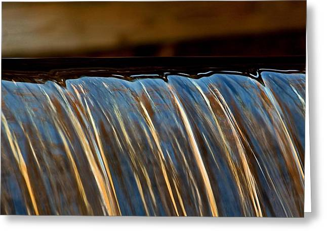 Central Ma Greeting Cards - Water Falls Edge 3 Greeting Card by Michael Saunders