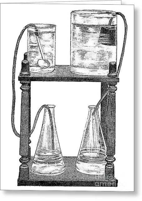 Experiment Greeting Cards - Water Filters, 19th Century Greeting Card by Spl