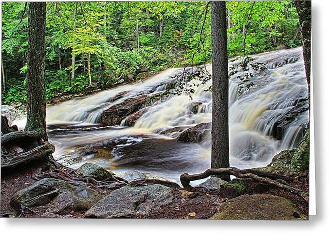 Cathedral Rock Greeting Cards - Water Flow At Kinsman Falls Greeting Card by Andrea Galiffi