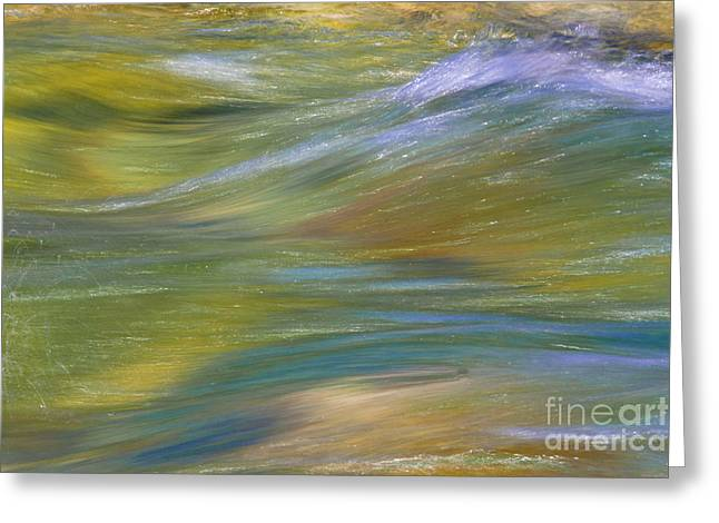 Wave Up Close Greeting Cards - Water Flow Greeting Card by Heiko Koehrer-Wagner