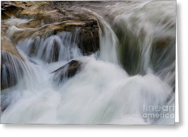 Water Flowing Greeting Cards - Water Flowing Over Rocks At Dagger Greeting Card by William H. Mullins