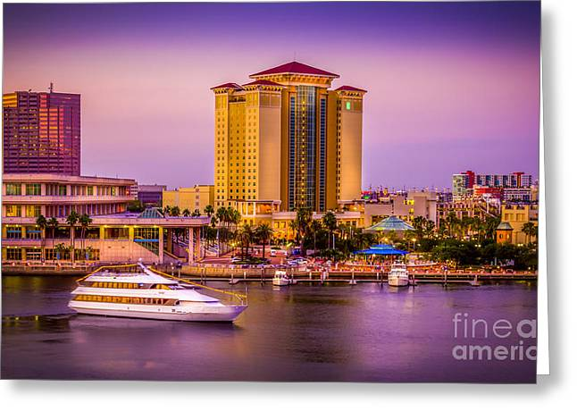 Tampa Buildings Greeting Cards - Water Front Tampa Greeting Card by Marvin Spates