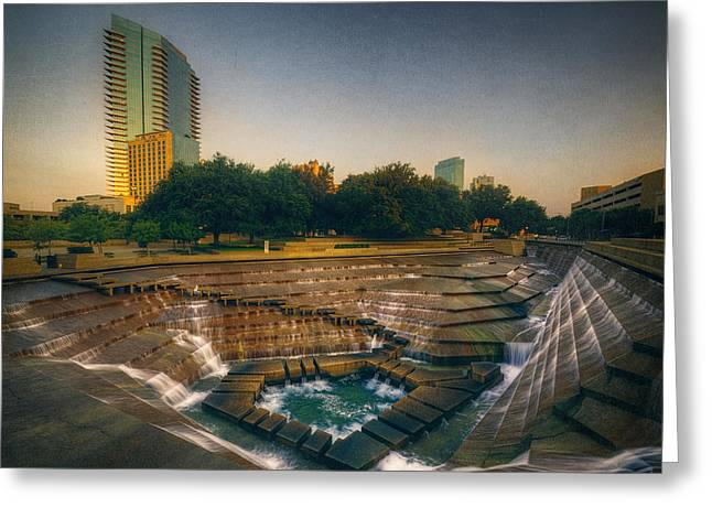 Joan Carroll Greeting Cards - Water Gardens Active Pool Greeting Card by Joan Carroll