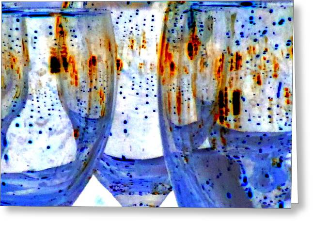 Goblet Greeting Cards - Water Glasses 3 Greeting Card by Randall Weidner