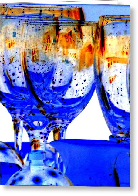 Goblet Greeting Cards - Water Glasses 4 Greeting Card by Randall Weidner