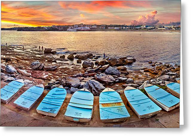 Dinghy Greeting Cards - Water Guardians Greeting Card by Az Jackson
