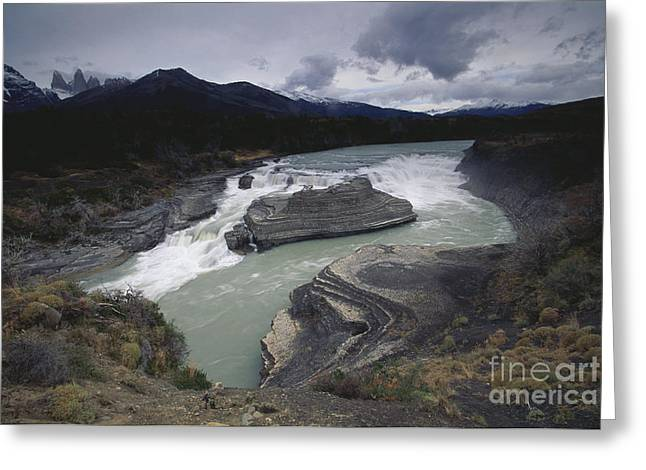 Water Flowing Greeting Cards - Water Gushing Around Rock Greeting Card by Art Wolfe