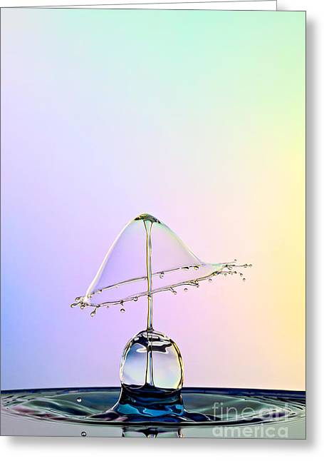 Water Drop Greeting Cards - Water Lamp Greeting Card by Susan Candelario