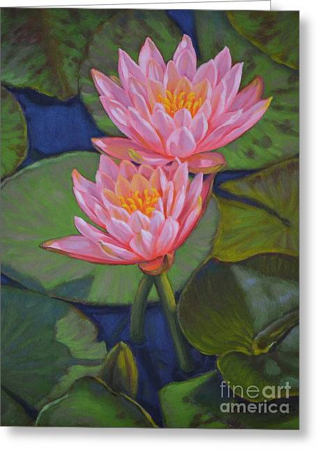 Water Lilies 6 Colorado Couple Greeting Card by Fiona Craig