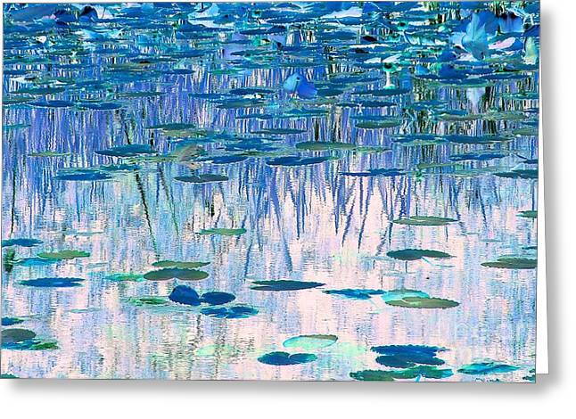 Faa Featured Work Greeting Cards - Water Lilies Greeting Card by Chris Anderson