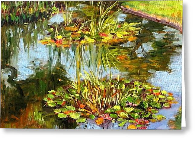 water lilies in California Greeting Card by Dominique Amendola