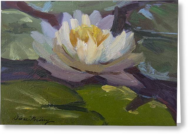 Lotus Blossoms Greeting Cards - Water Lily 1 Greeting Card by Diane McClary