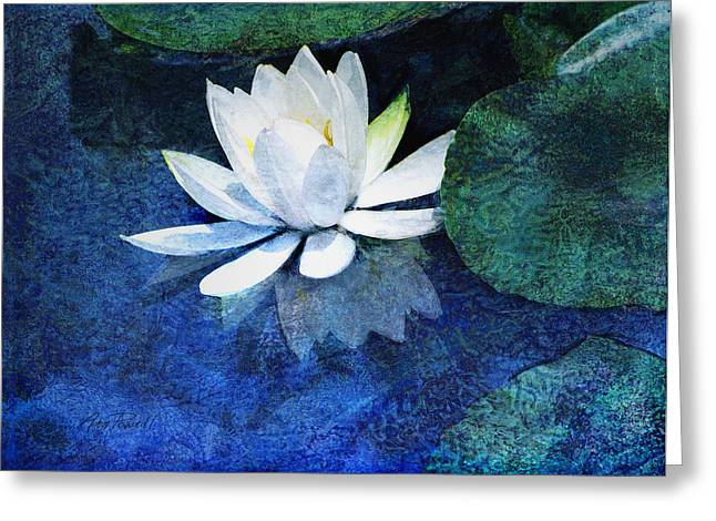 Water Lilly Greeting Cards - Water Lily Two Greeting Card by Ann Powell