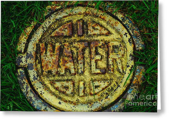 Underground Utilities Greeting Cards - Water Main Cover Greeting Card by Roger Reeves  and Terrie Heslop