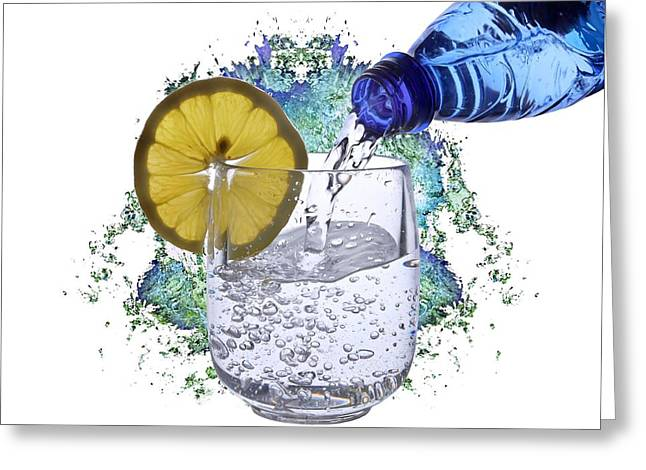 Bottled Water Greeting Cards - Water Greeting Card by Manfred Lutzius