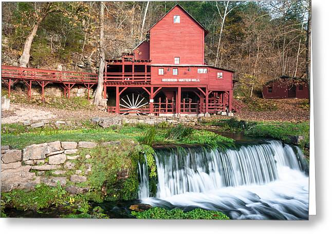 Grist Mill Greeting Cards - Water Mill in Missouri Greeting Card by Gregory Ballos