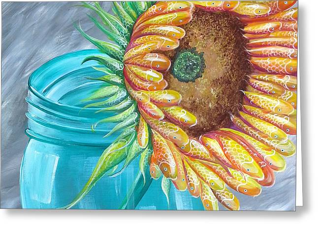 Recently Sold -  - Water Jars Greeting Cards - Water of Life Greeting Card by Deda Happel