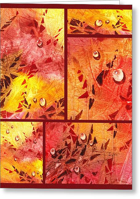 Water On Color Collage Eight Greeting Card by Irina Sztukowski