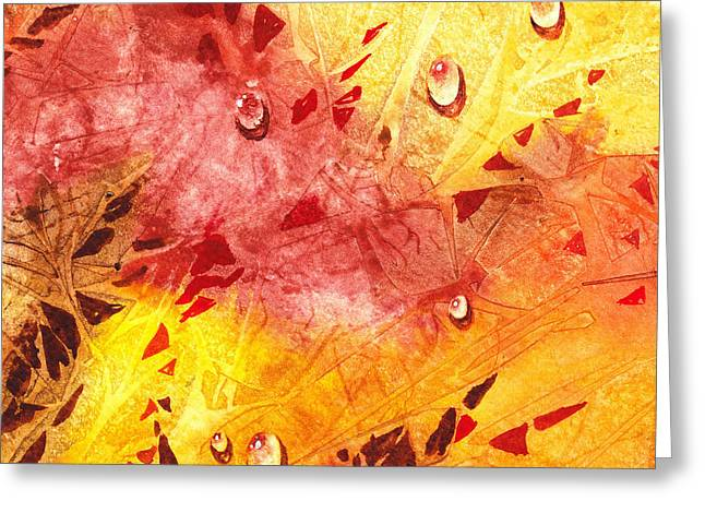 Abstractions Greeting Cards - Water On Color Design Nine Greeting Card by Irina Sztukowski