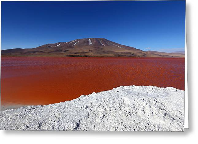Sud Greeting Cards - Water on Fire at Laguna Colorada Greeting Card by James Brunker