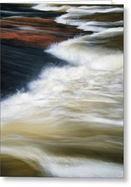Riverpark Greeting Cards - Water Over Stone 2 Greeting Card by Patrick M Lynch