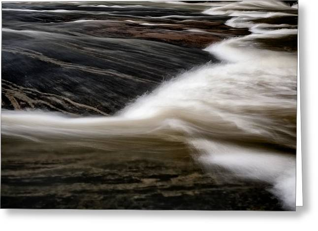 Riverpark Greeting Cards - Water Over Stone 3 Greeting Card by Patrick M Lynch