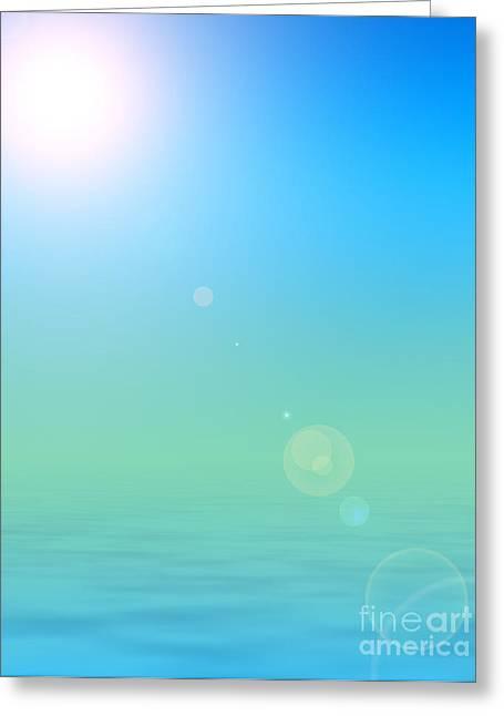 Sun Tanning Greeting Cards - Water Paradise Greeting Card by Antony McAulay