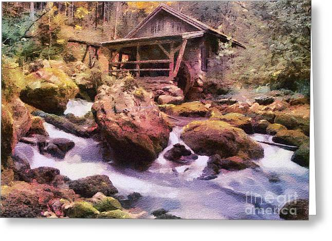 Old Mills Photographs Greeting Cards - Water Power Greeting Card by Jim  Hatch
