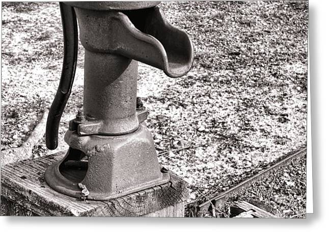 Water Pump and Trough Greeting Card by Olivier Le Queinec