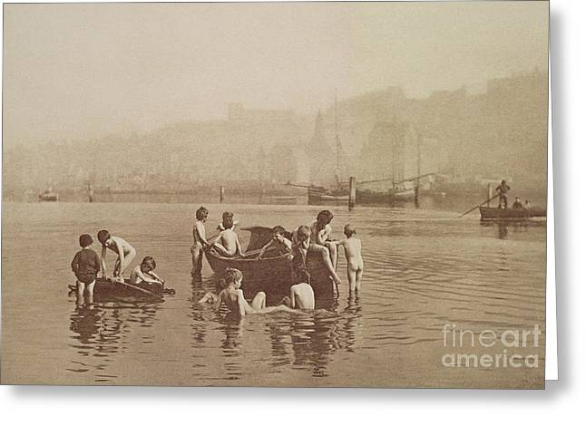 Dinghy Greeting Cards - Water Rats Greeting Card by Frank Meadow Sutcliffe