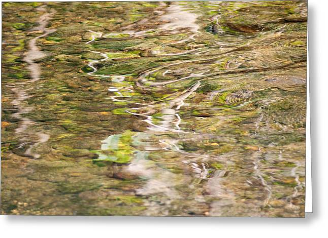 Babbling Greeting Cards - Water Reflection Greeting Card by Optical Playground By MP Ray
