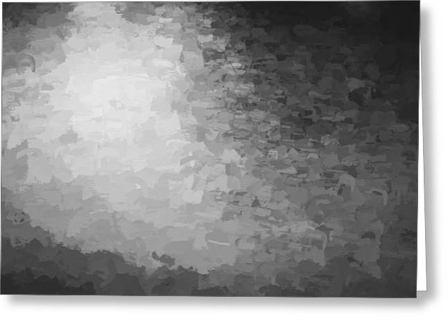 Sunset Abstract Greeting Cards - Water Reflections Abstract BW  Greeting Card by Rich Franco