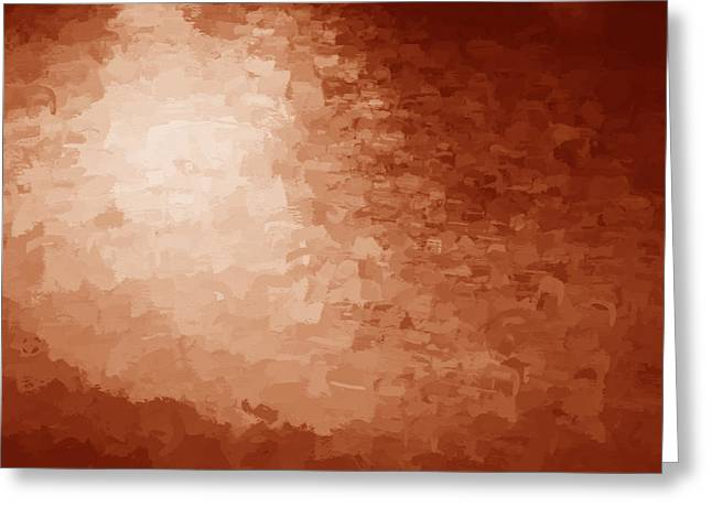 Sunset Abstract Greeting Cards - Water Reflections Abstract Red Greeting Card by Rich Franco