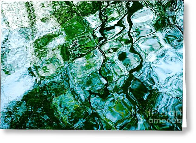 Lounge Digital Art Greeting Cards - Water Ripples and Reflections Abstract Greeting Card by Natalie Kinnear