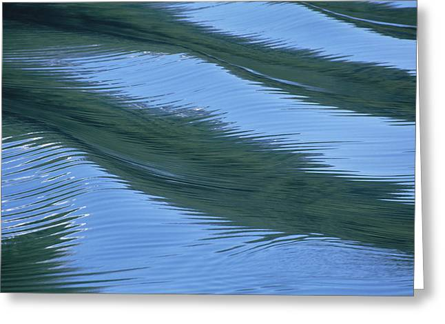 Abstract Movement Greeting Cards - Water Ripples And Reflections Alaska Greeting Card by Konrad Wothe
