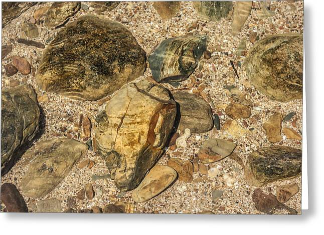 Beach Stones. Colorful Rocks Greeting Cards - Water Rocks Greeting Card by Nomad Art And  Design