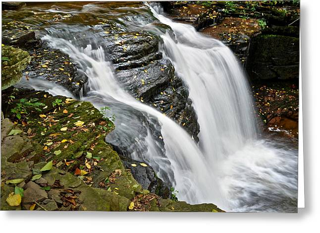Water Rushes Forth Greeting Card by Frozen in Time Fine Art Photography
